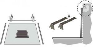 Staffe decorative da murare per lasciare libera la piastra di muoversi