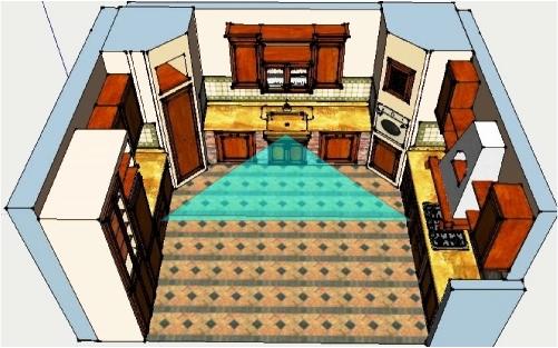 La disposizione della cucina