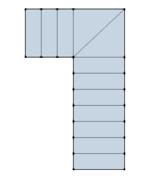 Perfect sviluppo ad l con ventaglio a with larghezza scala - Larghezza scala interna ...